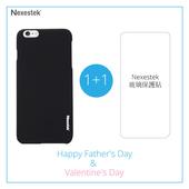 《Nexestek》Nexestek 類皮革手機保護殼- Apple iPhone 6 (4.7吋) 加玻璃保貼特惠組(質感黑)