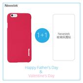 《Nexestek》Nexestek 類皮革手機保護殼- Apple iPhone 6 (4.7吋) 加玻璃保貼特惠組(桃紅色)