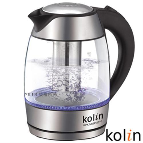 歌林 Kolin 1.8L泡茶玻璃快煮壺 KPK-MNR1831G