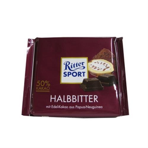 Ritter Sport 50%黑巧克力(100g)