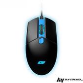 《B.Friend》GM3 遊戲發光有線滑鼠(藍)