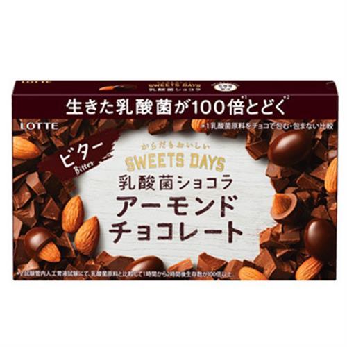 LOTTE SWEETS DAYS 乳酸菌杏仁巧克力球-微苦(86g)