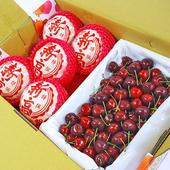 《鮮果日誌》美麗禮讚櫻桃禮盒 韓國新高梨+智利櫻桃(5入、25台斤)