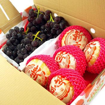 《鮮果日誌》順利健康禮盒(韓國新高梨5入+巨峰葡萄2.5台斤)(韓國新高梨+巨峰葡萄)