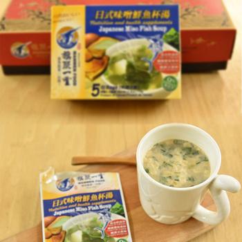 《旗聚一堂》丸文鮮魚杯湯 日式味噌 (15g*5包 )