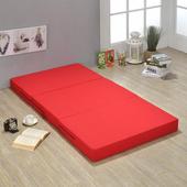 《戀香》泡泡彈力透氣簡便雙人床墊(三色可選)(紅)