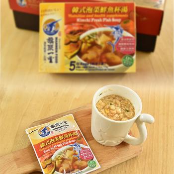《旗聚一堂》丸文鮮魚杯湯 韓式泡菜 (15g*5包)