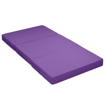 戀香 泡泡彈力透氣簡便單人床墊(三色可選)(紫)