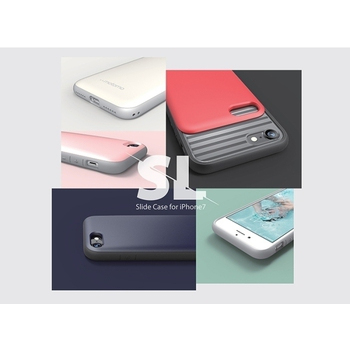 《日本motomo》日本motomo INO SL Slide 滑蓋插卡槽手機保護殼iPhone 7(淡粉紅)