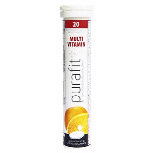 《德國Purafit 柏尹芙》發泡錠-綜合維他命柳橙(90g/20錠)