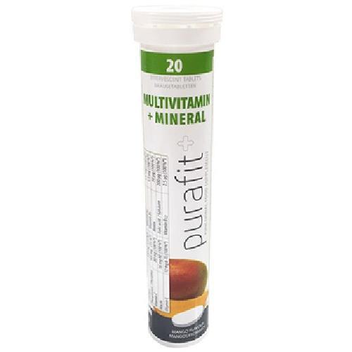 德國Purafit 柏尹芙 發泡錠-綜合維他命+礦物質芒果(90g/20錠)
