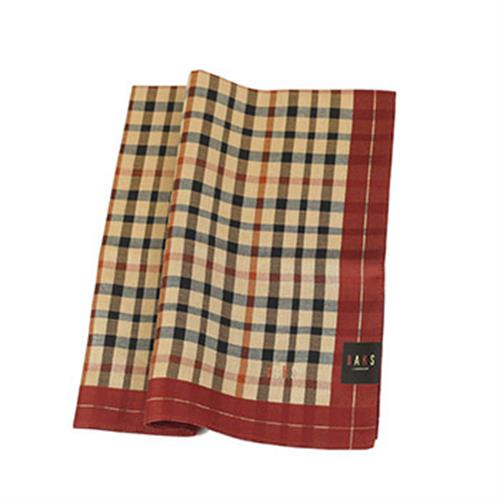 DAKS 經典格紋領巾(紅色)