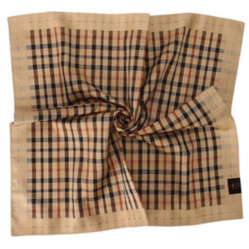 DAKS 經典格紋領巾(駝色)