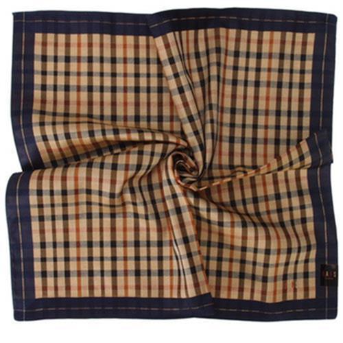 DAKS 經典格紋領巾(藍色)