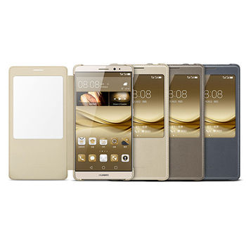HUAWEI Mate 8 原廠智能視窗皮套 (盒裝)(金色)