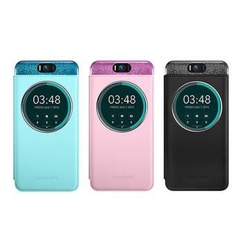 ASUS Zenfone Selfie ZD551KL專用 5.5吋原廠透視皮套(台灣代理商-盒裝)(黑色)