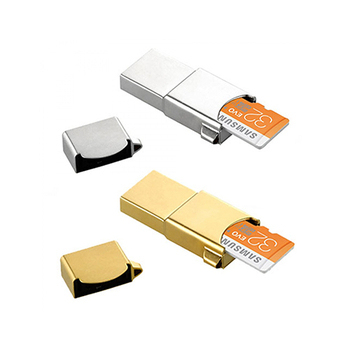SAMSUNG Metal OTG 32GB 隨身碟【OTG & USB & Card 3合1 】(金色)