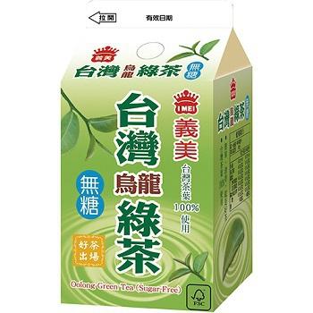 義美 無糖台灣烏龍綠茶(400ml)