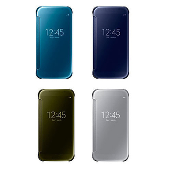 Samsung Galaxy S6 Clear View 原廠感應皮套(銀色)