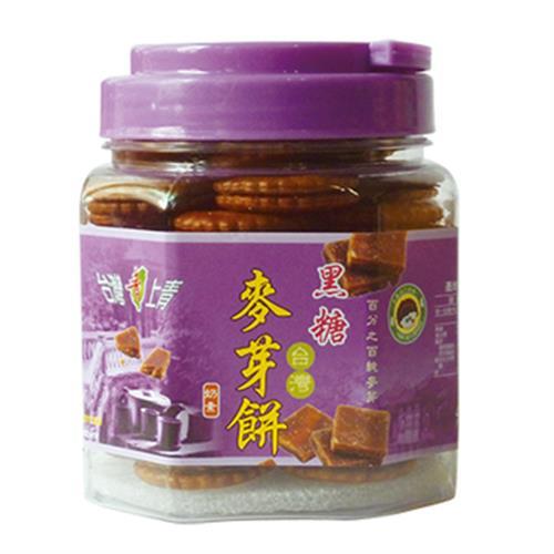 台灣上青 台灣麥芽餅(黑糖-300g/罐)