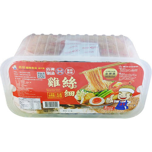 《吉好》雞絲細麵(當歸藥膳-330g/6入盒裝)
