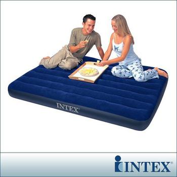 ★結帳現折★INTEX 雙人植絨充氣床墊-寬137cm(68758)