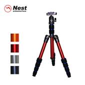 《Nest 耐思得》Nest 耐思得 NT-6235AK 反折式三腳架(紅)