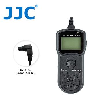 《JJC》TM-A 液晶定時快門線 C3(相容Canon RS-80N3)