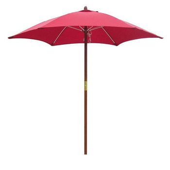 《大傘王》【大傘王】7.5 呎6骨庭園玻纖木傘(WFFO-3209紅色)