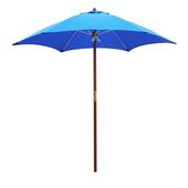 《大傘王》【大傘王】7.5 呎6骨庭園玻纖木傘(WFFO-3205寶藍)