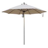 《大傘王》【大傘王】9 呎8骨不鏽鋼庭園傘(STII-6407卡其)