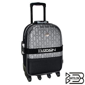 BATOLON寶龍 【21吋】典雅緹花加大六輪旅行箱/拉桿箱/行李箱(黑)