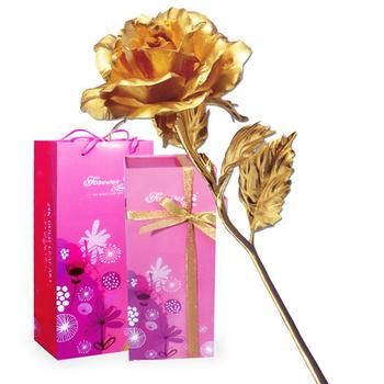 母親節鹿港窯 立體金箔花-典藏黃金玫瑰花(精緻禮盒)