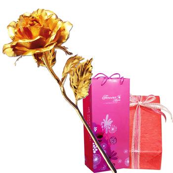 鹿港窯 立體金箔花-典藏黃金玫瑰花(精緻禮盒)