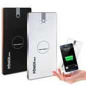 菱格紋 Qi-A02 雙USB輸出Qi無線充電行動電源(黑色)