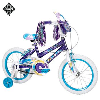 美國HUFFY 聖誕節加碼送-16吋女童車【紫色】,兒童自行車,兒童腳踏車,輔助輪童車