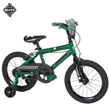 美國HUFFY 聖誕節加碼送-16吋自行車【阿兵哥】軍綠色,兒童腳踏車,輔助輪自行車
