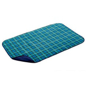 《Coleman》美國 Coleman 刷毛毯 抱枕毯 車用毯-綠格紋 #CM-21168M