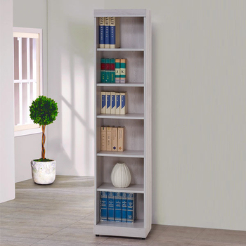 《Homelike》蘭琪1.3尺開放書櫃(白栓木紋)