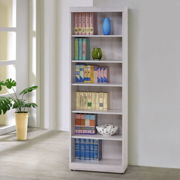 Homelike 蘭琪2尺開放書櫃(白栓木紋)