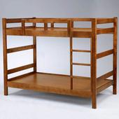 《Homelike》柯特3.5尺雙層床-淺胡桃色