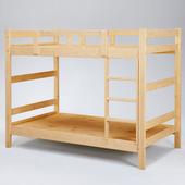《Homelike》柯特3.5尺雙層床-原木色
