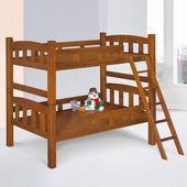 《Homelike》諾亞3.5尺雙層床-淺胡桃色