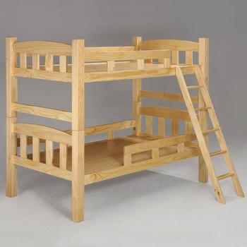 《Homelike》諾亞3.5尺雙層床-原木色
