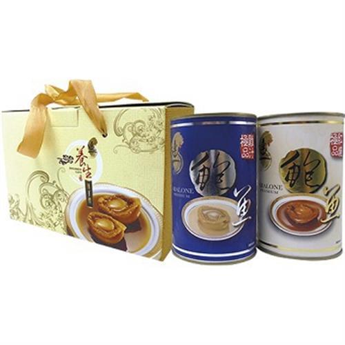 連一 鮑魚罐頭禮盒(雞汁鮑魚罐頭*1、紅燒鮑魚罐頭*1)