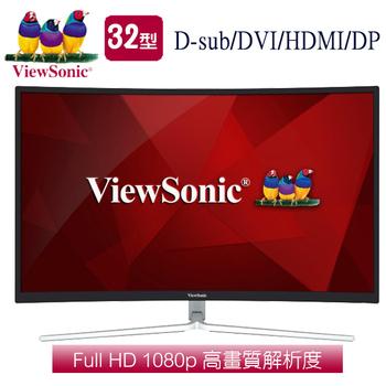 《ViewSonic優派》XG3202-C 32型VA曲面電競螢幕
