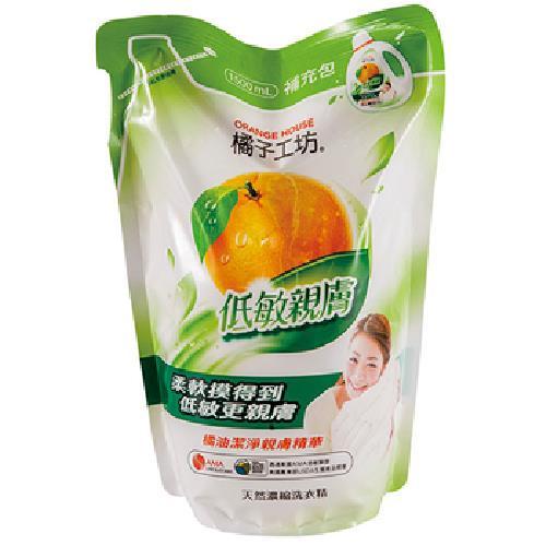 《橘子工坊》一般碗盤洗滌液補充包(430ml)