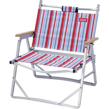Coleman 輕薄摺疊椅 藍紅條紋#CM-14617M