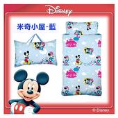 《17mall》【Disney迪士尼】米奇小屋二用幼教兒童睡袋-(粉藍)
