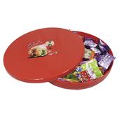 賀新年 圓形糖果盒Ø24.5*4.8cm $88